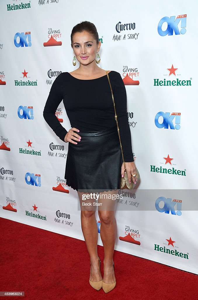 Comedian Rachel O'Brien arrives at OK! TV Emmy pre-awards party honoring the Emmy nominees and presenters at Sofitel Hotel on August 21, 2014 in Los Angeles, California.