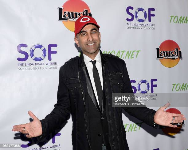 Comedian Rajiv Satyal attends the SarcomaOma Foundation Comedy Benefit at The Laugh Factory on June 6 2018 in West Hollywood California
