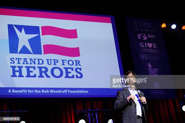Comedian Ray Romano performs on stage at the New York Comedy Festival and the Bob Woodruff Foundation's 9th Annual Stand Up For Heroes Event on...