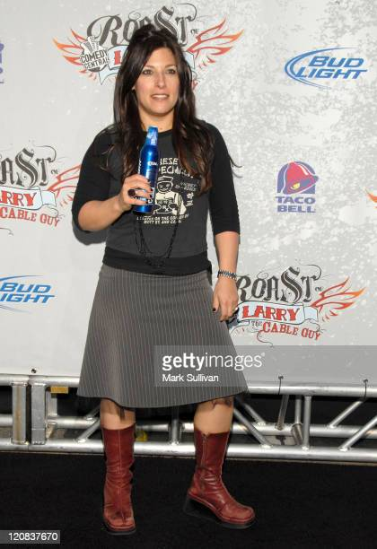Comedian Rebecca Corry arrives at Comedy Central presents Roast of Larry The Cable Guy at Warner Brothers on March 1 2009 in Burbank California