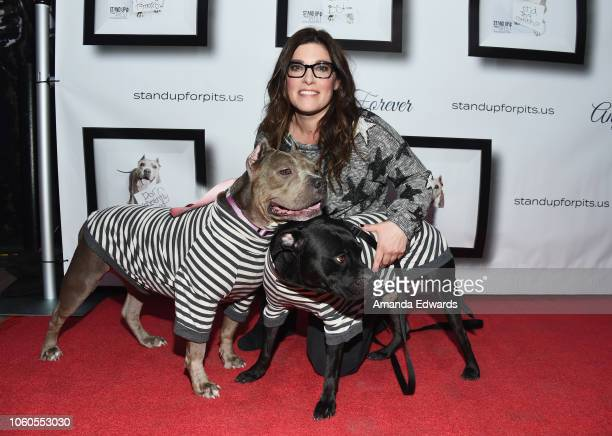 Comedian Rebecca Corry arrives at the 8th Annual Stand Up For Pits at the Hollywood Improv Comedy Club on November 11, 2018 in Los Angeles,...