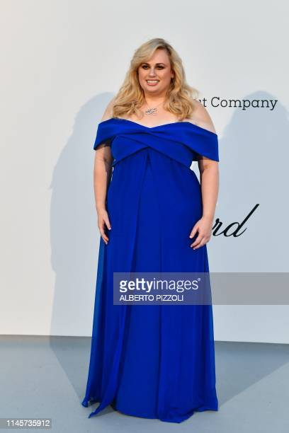 Comedian Rebel Wilson arrives on May 23, 2019 for the amfAR 26th Annual Cinema Against AIDS gala at the Hotel du Cap-Eden-Roc in Cap d'Antibes,...