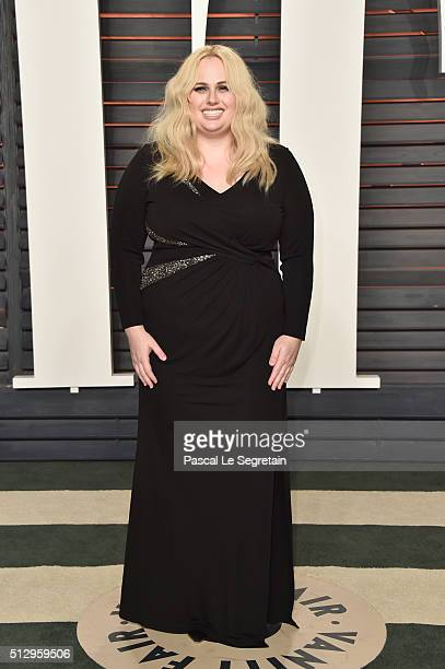Comedian Rebel Wilson attends the 2016 Vanity Fair Oscar Party Hosted By Graydon Carter at the Wallis Annenberg Center for the Performing Arts on...