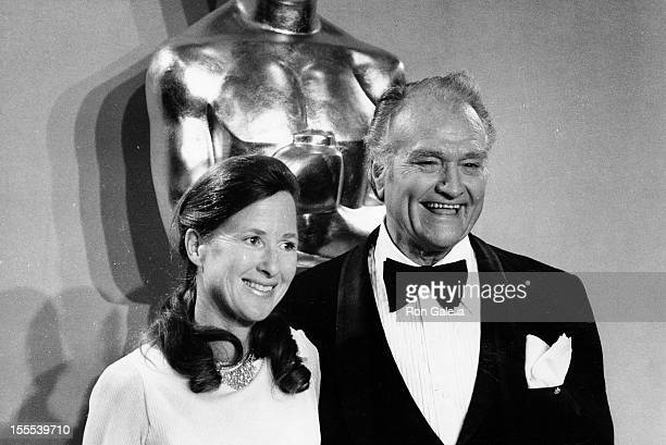 Comedian Red Skelton and wife Lothian Toland attend 49th Annual Academy Awards on March 28 1977 at the Dorothy Chandler Pavilion in Los Angeles...