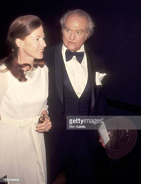 Comedian Red Skelton and wife Lothian Toland attend the 49th Annual Academy Awards on March 28 1977 at Dorothy Chandler Pavilion Los Angeles Music...