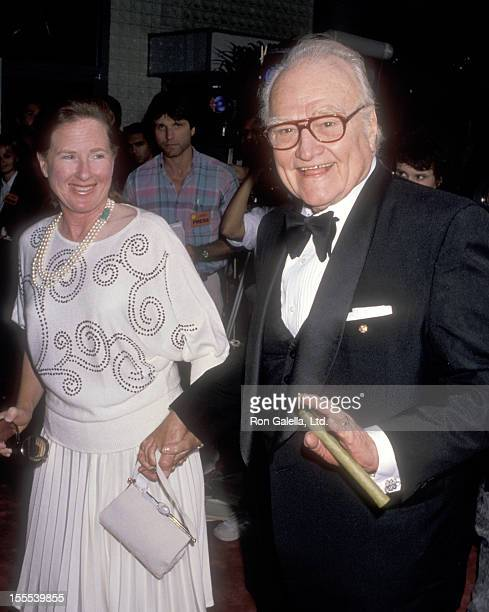 Comedian Red Skelton and wife Lothian Toland attend the Third Annual American Comedy Awards on May 23 1989 at Hollywood Palladium in Hollywood...