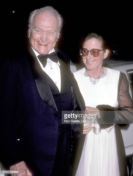 Comedian Red Skelton and wife Lothian Toland attend the Variety Club International AllStar Party for President Ronald Reagan and Nancy Reagan on...