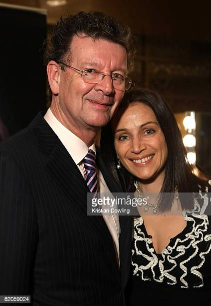 Comedian Red Symons and wife Elly Symons attend the Million Dollar Lunch at Palladium at Crown on July 25 2008 in Melbourne Australia