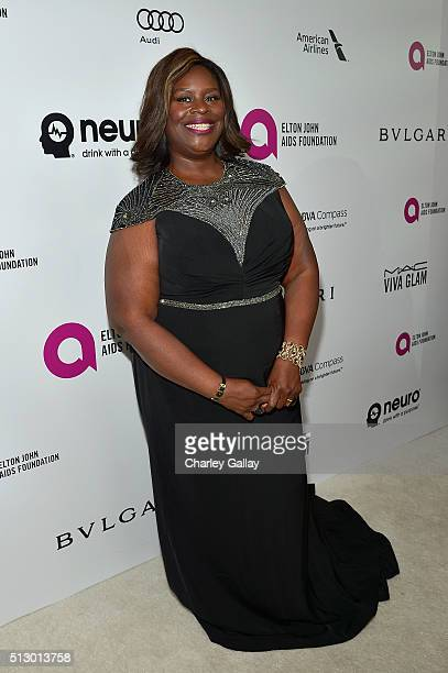 Comedian Retta attends Neuro at the 24th Annual Elton John AIDS Foundation's Oscar Viewing Party at The City of West Hollywood Park on February 28...