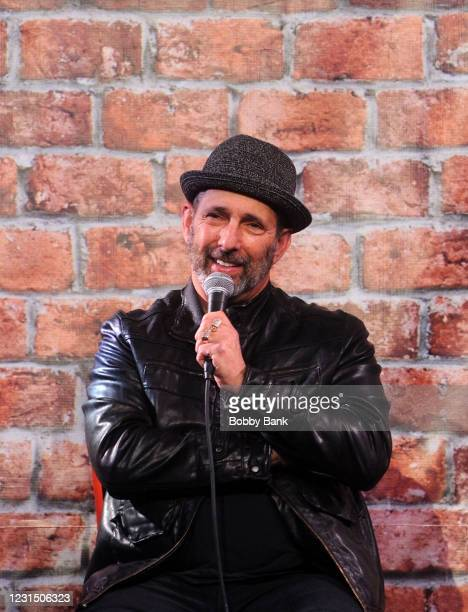 Comedian Rich Vos performs at The Stress Factory Comedy Club on March 3, 2021 in New Brunswick, New Jersey.