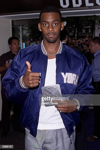 Comedian Richard Blackwood arrives at the London premiere of the film XMen Odeon Leicester Square London August 15 2000