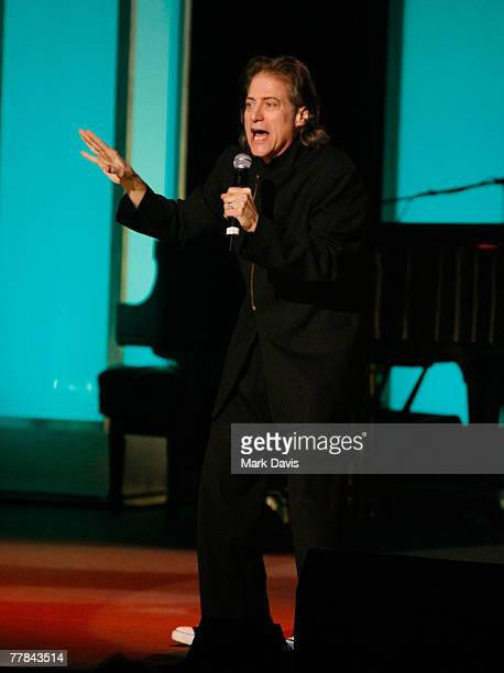 Comedian Richard Lewis performs at the Comedy to Benefit The IMF's Peter Boyle Fund held at the Wilshire Ebell Theater and Club on November 102007 in...
