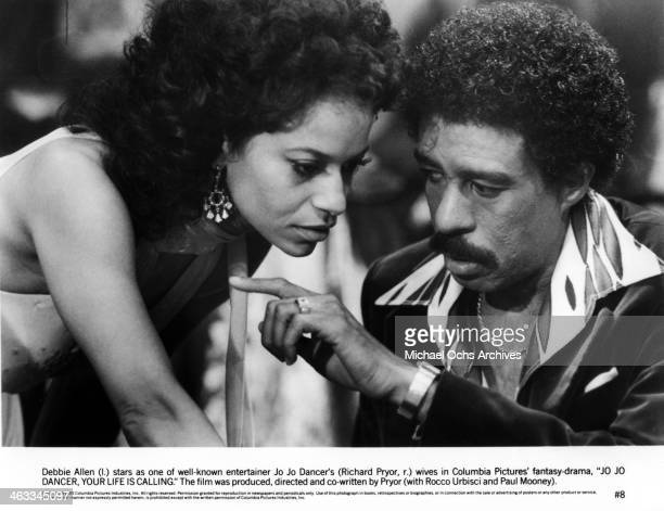 "Comedian Richard Pryor and actress Debbie Allen in a scene from the movie ""Jo Jo Dancer, Your Life Is Calling"" which was released on May 2, 1986."
