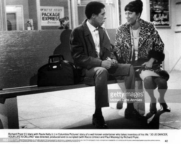 Comedian Richard Pryor and actress Paula Kelly in a scene from the movie Jo Jo Dancer Your Life Is Calling which was released on May 2 1986