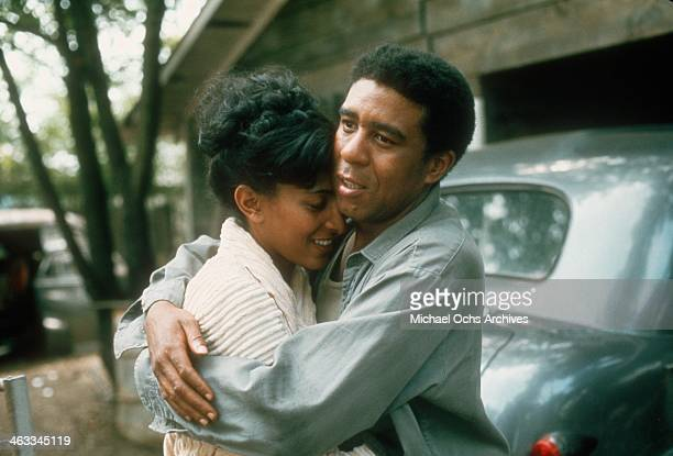 Comedian Richard Pryor and an actress in a scene from a movie in circa 1980.