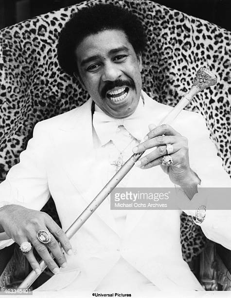 Comedian Richard Pryor in a scene from a movie in circa 1977