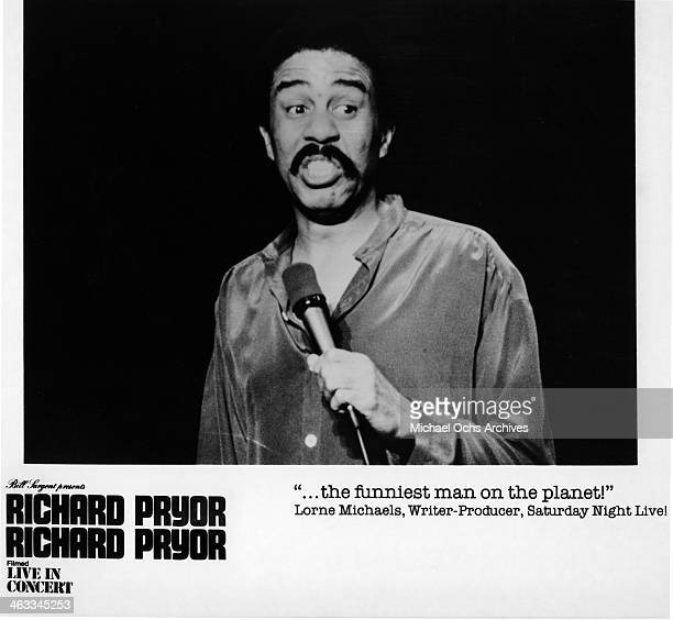 Comedian Richard Pryor in a scene from the movie Richard Pryor Live In Concert which was released on December 12 1980