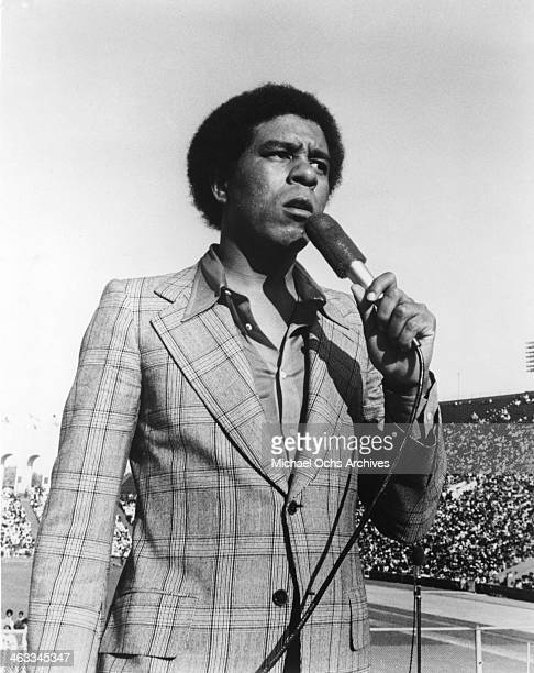 Comedian Richard Pryor performs onstage in front of 80000 people for the Watts Summer Festival Concert at the Los Angeles Memorial Coliseum on August...