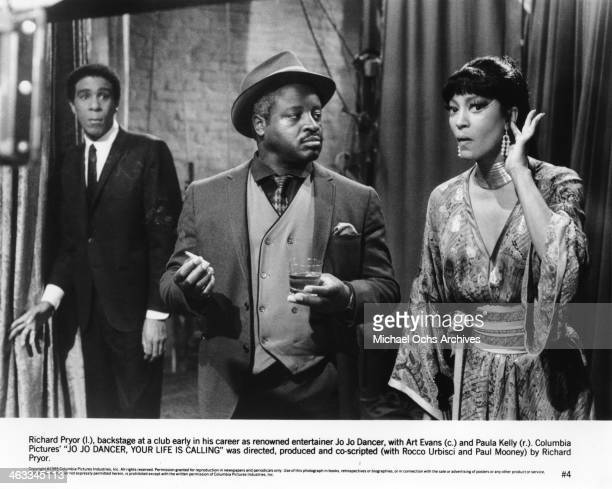 Comedian Richard Pryor with actors Art Evans and Paula Kelly in a scene from the movie Jo Jo Dancer Your Life Is Calling which was released on May 2...