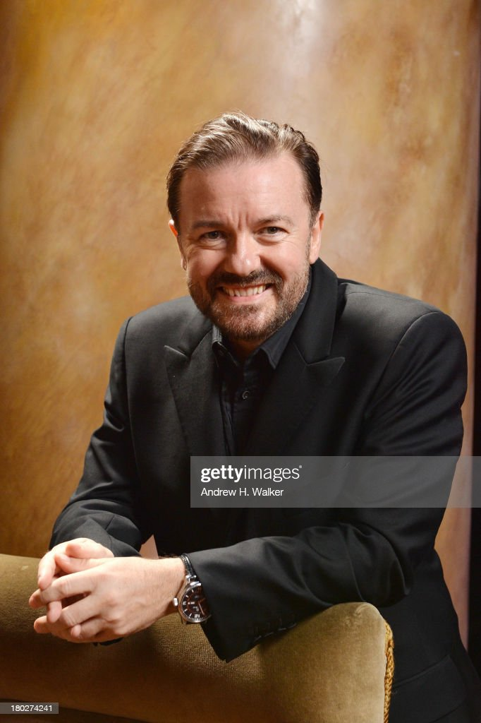 Comedian Ricky Gervais attends The Novak Djokovic Foundation New York Dinner at Capitale on September 10, 2013 in New York City.
