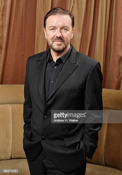 Comedian Ricky Gervais attends The Novak Djokovic Foundation New York Dinner at Capitale on September 10 2013 in New York City