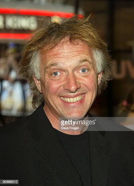 "Comedian Rik Mayall arrives at the UK Premiere of the classic novel by Jules Verne, ""Around The World In 80 Days"" on June 22, 2004 at Vue West End,..."