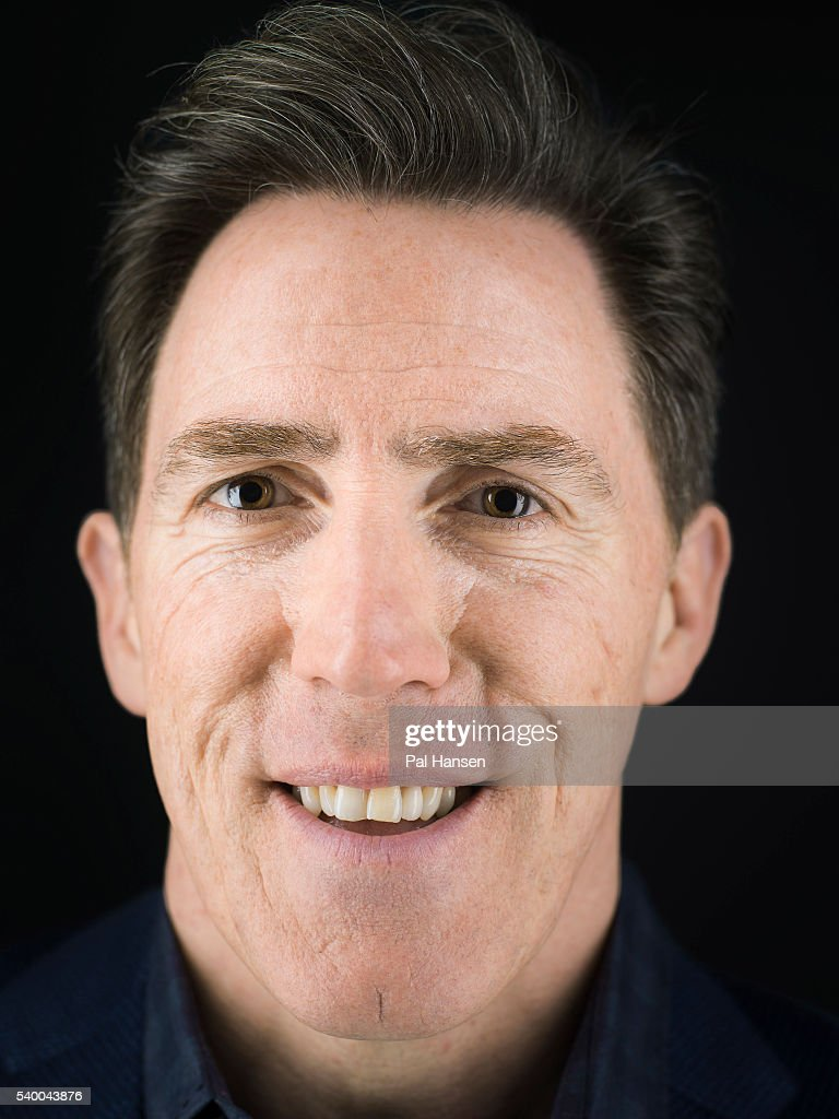 Comedian Rob Brydon is photographed for the Observer on March 8, 2016 in London, England.