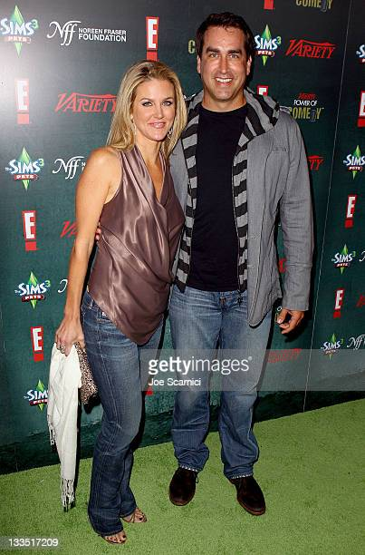 Comedian Rob Riggle and his wife Tiffany Riggle arrive at Variety's Power Of Comedy Presented By The Sims 3 Benefiting The Noreen Fraser Foundation...