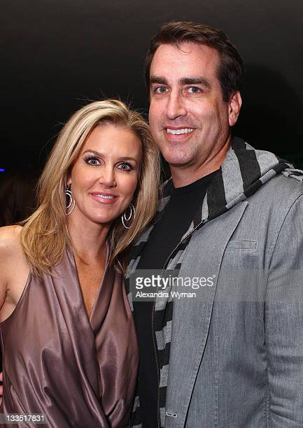 Comedian Rob Riggles and Tiffany Riggle pose in the VIP Lounge at Variety's Power of Comedy Presented By The Sims 3 Benefiting The Noreen Fraser...