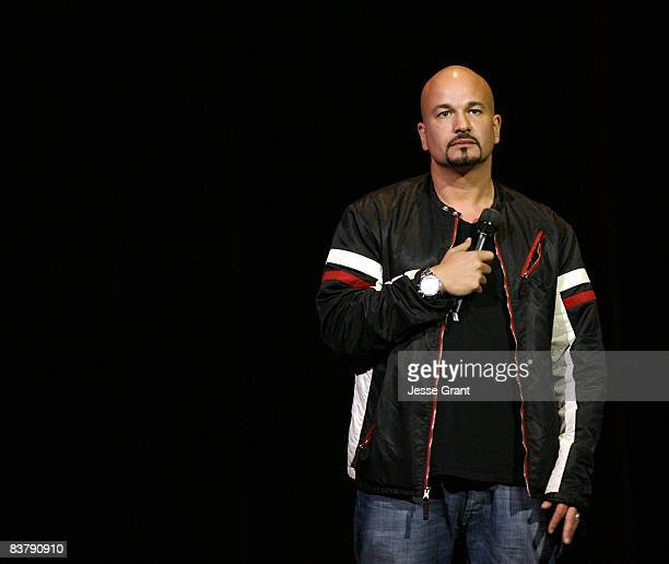 Comedian Robert Kelly performs on stage during The Comedy Festival 2008 presented by TBS at Caesars Palace on November 21 2008 in Las Vegas Nevada...