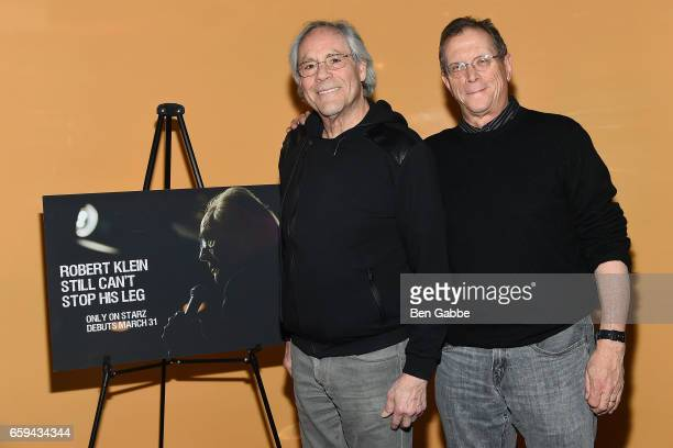 """Comedian Robert Klein and director Marshall Fine attend the """"Robert Klein Still Can't Stop His Leg"""" Special Screening at SVA Theater on March 28,..."""