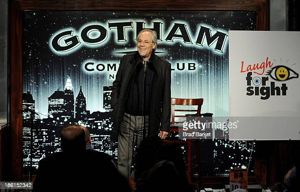 Comedian Robert Klein performs onstage during the 8th Annual Laugh For Sight All-Star Comedy Benefit at Gotham Comedy Club on October 28, 2013 in New...