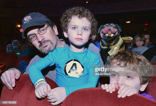 Comedian Robert Smigel voice behind Triumph the Insult Comic Dog and family attend Yo Gabba Gabba Live at The Beacon Theatre on December 21 2013 in...