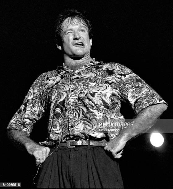 Comedian Robin Williams performs at Chastain Park Amphitheater in Atlanta Georgia. May 10, 1986