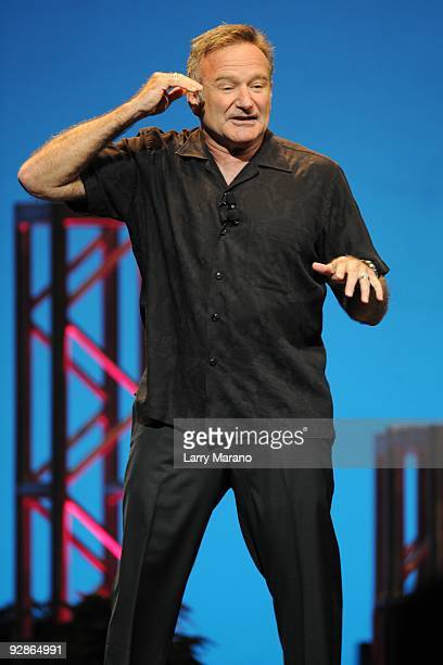 Comedian Robin Williams performs at Hard Rock live held at the Seminole Hard Rock hotel and casino on October 21 2009 in Hollywood Florida