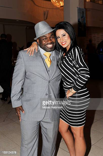 Comedian Rodney Perry and Amy Eslami attend Bombay Sapphire Art of the Martini at 200 Peachtree Grand Atrium on November 16 2011 in Atlanta Georgia