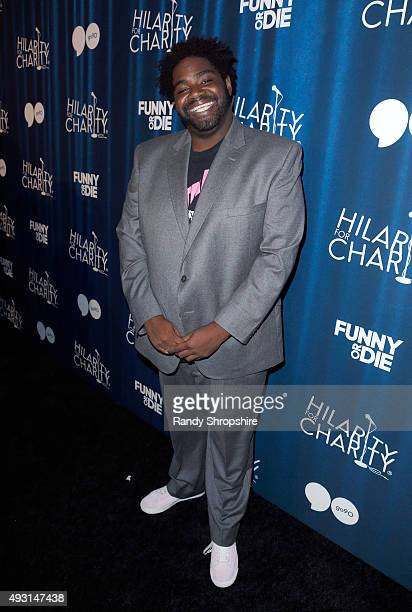 Comedian Ron Funches attends Hilarity for Charity's Annual Variety Show James Franco's Bar Mitzvah benefitting the Alzheimer's Association presented...