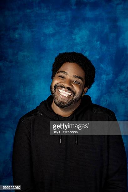 Comedian Ron Funches of 'Powerless' is photographed for Los Angeles Times at San Diego Comic Con on July 22 2016 in San Diego California