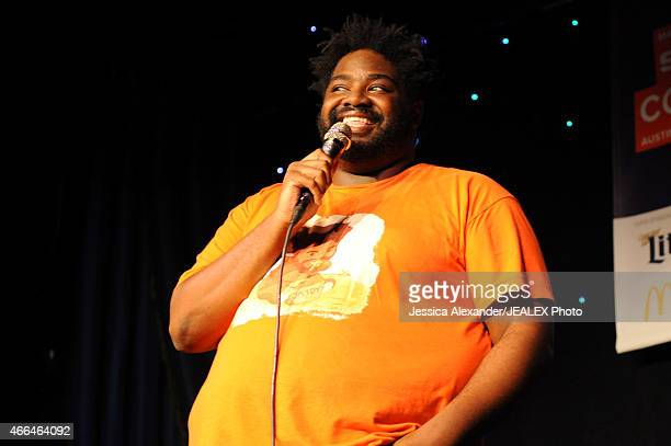 Comedian Ron Funches performs at The Undateable Comedy Tour during the 2015 SXSW Music Film Interactive Festival at Esther's Follies on March 15 2015...