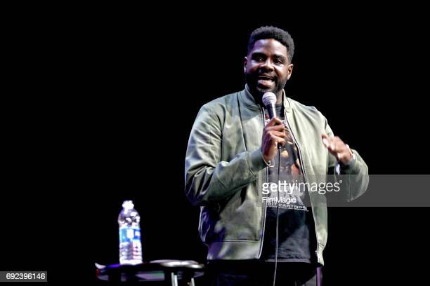 Comedian Ron Funches performs onstage at The Bill Graham Stage during Colossal Clusterfest at Civic Center Plaza and The Bill Graham Civic Auditorium...
