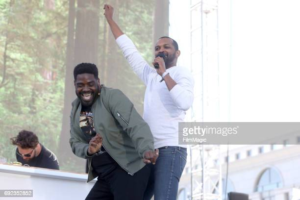 Comedian Ron Funches performs onstage at the Piazza Del Cluster Stage during Colossal Clusterfest at Civic Center Plaza and The Bill Graham Civic...