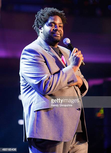 Comedian Ron Funches performs onstage during Hilarity for Charity's Annual Variety Show James Franco's Bar Mitzvah benefitting the Alzheimer's...