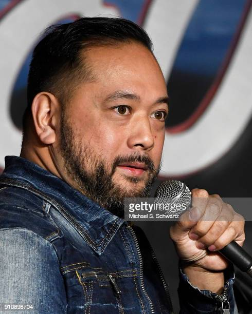 Comedian Ron Josol performs during his appearance at The Ice House Comedy Club on January 26 2018 in Pasadena California