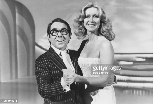 Comedian Ronnie Corbett and singer Clodagh Rodgers dancing together on the set of a television show February 24th 1978