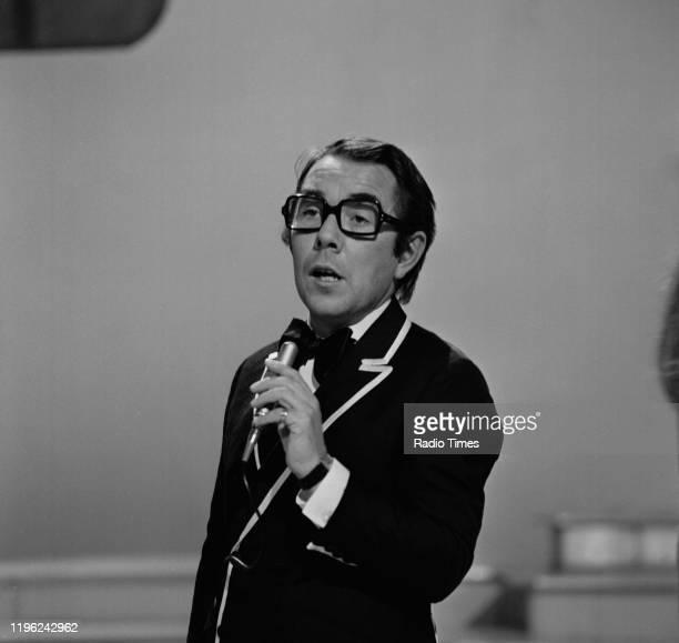 Comedian Ronnie Corbett performing on the BBC television show 'Cilla', circa 1970.