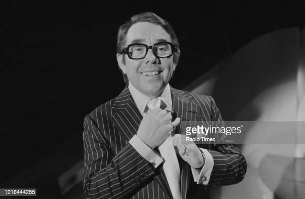 Comedian Ronnie Corbett presenting the BBC television show 'Ronnie Corbett's Saturday Special', February 24th 1979.