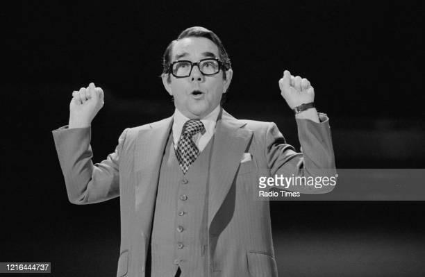 Comedian Ronnie Corbett presenting the BBC television show 'Ronnie Corbett's Saturday Special', February 18th 1978.
