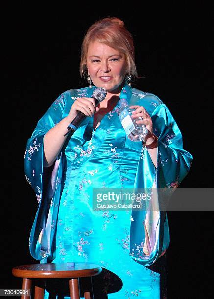 Comedian Roseanne performs during the South Beach Comedy Festival at the Lincoln Theatre January 18, 2007 in Miami Beach, Florida.