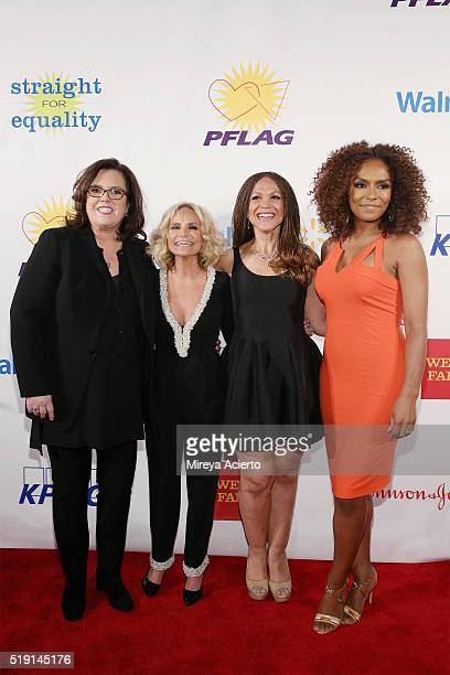 Comedian Rosie O'Donnell actress Kristin Chenoweth writers Melissa HarrisPerry and Janet Mock attend the PFLAG National's Eighth Annual Straight for...