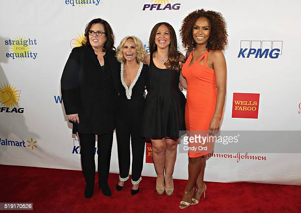 Comedian Rosie O'Donnell actress Kristin Chenoweth writers Melissa HarrisPerry and Janet Mock attend PFLAG National's Eighth Annual Straight for...